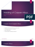 Welding of copper alloys