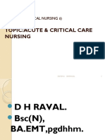 Acute and Critical Nursing Care