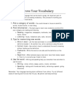 Writing Handout How to Improve Your Vocabulary
