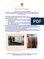 Notes for Hydrogen Fueled Power Plant Sets