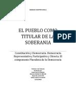 Informe El Pueblo Como Titular de La Soberania i