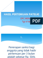 Hasil Pert Patelki 14 Feb