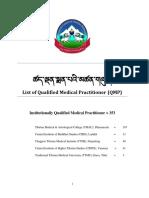 1 QMP LIST ENG AUG 2019 Tibetian Medicine