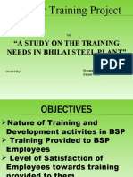 LCM Summer Training Project TRAINING NEEDS IN BHILAI STEEL PLANT.ppt