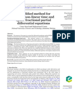 A modified method for solving time and space fractional partial differential equations.