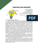 Bab 1 Pengantar Ilmu Ekonomi