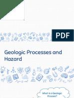 Geologic Processes and Hazard