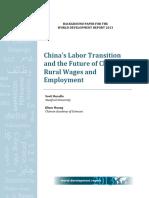 China labour transition