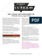 Kill Team Errata De deutsch german allemande allemania 2019