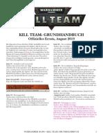 Kill Team Errata De deutsch german allemande allemania 2019