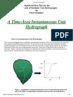 Time-Area Unit Hydrograph