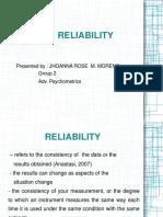 Psychomet Reliability