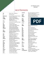 Phil  List of Acronyms