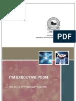 ITM_Brochure_Exe_PGDM_2010