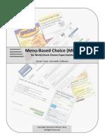 2012 Menu-Based Choice (MBC) for Multi-Check Choice Experiments [Bryan Orme - Sawtooth]