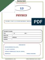 Namma Kalvi 12th Physics Unit 1 to 3 2 Mark Study Material Em 214905