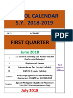 School Calendar s