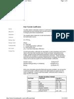 heat transfer coefficient for Heat Exchanger Design