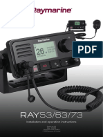Ray53, Ray63, Ray73 Installation and Operation Instructions 81381-2-En