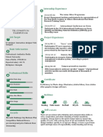 Simple Green Personal Resume-WPmbbS Office