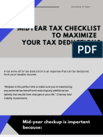 Midyear Tax Checklist to Maximize Your Tax Deductions
