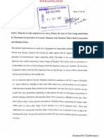 Letter to CJI