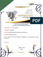 INFORME de Martillo Schmidt y El Equipo de Carga Puntual