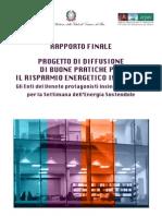 Report Risparmio Energetico in Ufficio 2009