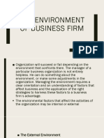 The Environment of Business Firm