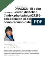 COLABORACION_ El Color Como Recurso Didáctico