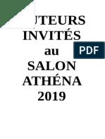 Salon Livre Athéna - Présentation Des Auteurs
