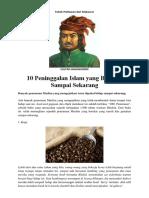 10 Peninggalan Islam