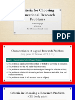 Fdocuments.us Criteria for Choosing Educational Research Problems