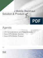 Cisco EPN Mobile Backhaul Solution
