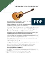 Cara Memainkan Alat Musik Gitar