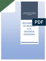 Reglamento de Ingreso a La Docencia Ordinaria Final 21-01-2019