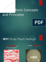 History to Principles of Psych Testing