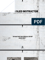 Power Sled Instructor - Personal Trainer Opleiding  OVERLOAD WORLDWIDE