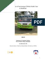 JHARKHAND-Mobile Health Unit Proposal