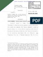 Federal judge decision in Mazars Trump case 2019-10-07