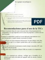 Recomendaciones Para El Uso de La TICs