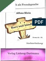Deutsch als Fremdsprasche Alfons Klein