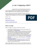 DHCP Server configuration