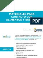 6 Reglamentacion e IVC de Materiales Para Contacto Con Alimentos