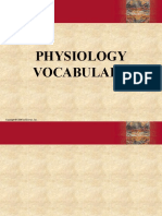 Physiology Vocabulary 2