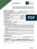 Acuerdo de Matrícula EPG-USIL