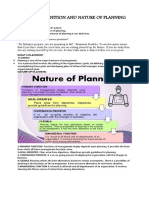 Definition and Nature of Planning