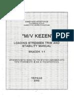 MV KESEN - Trim & Stability Booklet