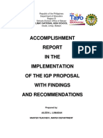 Igp Accomplishent Report Pattern