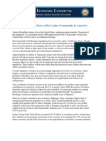 The Economic State of the Latino Community in America